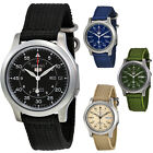 Seiko 5 Canvas Strap Automatic Stainless Steel Mens Watch