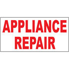 Appliance Repair Red DECAL STICKER Retail Store Sign photo