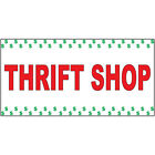 Plaques Signs - Thrift Shop Red DECAL STICKER Retail Store Sign