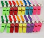 Colorful Plastic Whistle with Lanyard pet training sports party parade kids toys