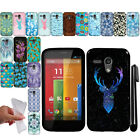 For Motorola Moto G Falcon XT1032 TPU Gel SILICONE Rubber Soft Case Cover + Pen