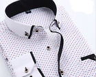 1PCS Spring Clothes Men's Long-Sleeve Printing Shirt