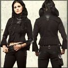 LIP SERVICE STEAMPUNK BIKER PUNK GOTHIC ROCKABILLY MOTO FAUX LEATHER JACKET COAT
