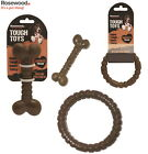 ROSEWOOD NYLON NYLABONE TYPE DOG CHEW BONE RING TOUGH TOY CHOCOLATE FLAVOUR SIZE
