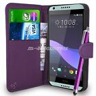 PU Leather Wallet Case Cover Pouch For HTC Desire 650 Mobile Phone + Pen
