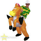 INFLATABLE HORSE RIDING NOVELTY FANCY DRESS WESTERN AIR COSTUME PROP HEN + STAG