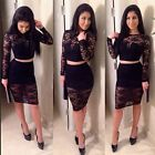 Women dresses Cocktail Party Summer Bodycon Slim Lace Crochet Dress tops+ Skirs