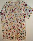New 2 pocket VNECK scrubs top  65%poly 35%cot -  BUTTERFLIES, HEARTS & CHERRIES