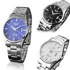 Men's Watch Stainless Steel Band Quartz Military Sport Army Wrist Watch New