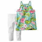 Carters 2T 3T 4T Floral Tank Top & Leggings Set Toddler Girl Clothes