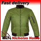 SPADA AIR FORCE ONE Olive Green CE ARMOURED WATERPROOF BOMBER STYLE JACKET