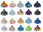 Tie Dye Multi-Color Hoodies, Adult S to XXXL 80% Cotton, L/S, Pockets No Zipper