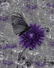 Rustic Modern Floral Butterfly Wall Art Home Decor Matted Picture