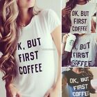 New Women Short Sleeve O-Neck Letter Print Tops Loose Casual Leisure T-shirt AU