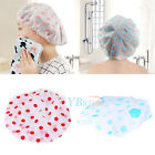 Lady Elastic Waterproof Plastic Shower Bathing Bouffant Salon Hair Cap Hat New
