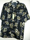 NWT HIBISCUS FLOWER HAWAIIAN SHIRT by SUXXESS choice of size S M or L