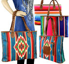 Concealed Carry, Bright & Bold Serape Inspired, X-Large Carry-all Canvas Tote