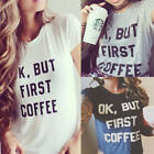 Fashion Women Short Sleeve Loose Casual Letter Print T-shirt Tops Blouse New