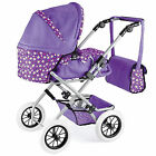 Toyrific Snuggles Deluxe Doll's Prams & Buggys Toys Choice Of 3 Types - Purple