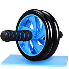 Dual ABS Abdominal Roller Wheel w/ Knee Pad F. Home Workout Exercise Fitness Gym