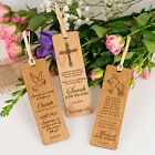 Wooden Engraved Laser-Cut Christening Bookmark, Baby, Baptism, Naming Day