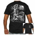 Mens  Black Biker T-Shirt - Motorcycle Babe Fill'er Up Shirts image
