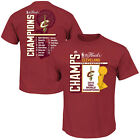 Majestic Cleveland Cavaliers Dynamite Debut 2016 NBA Champions Roster T Shirt