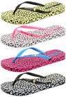 Ipanema Brasil Leopard Womens Beach Flip Flops ALL SIZES AND COLOURS