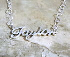 Sterling Silver Name Necklace -Taylor -on Heart Chain Your Choice Length - 0690