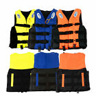 Polyester Adult Life Jacket Universal Swimming Boating Ski Vest+Whistle 6 Size