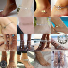 Womens Love Heart Lucy 8 Pearl Anklet Ankle Chain Bracelet Foot Sandal Jewelry