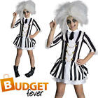 Beetlejuice Girls Kids Halloween Fancy Dress Childrens Movie Costume Outfit