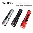 Red/Black/Silver Mini 3 Modes Retractable Zoomable LED Flashlight Torch Lamp
