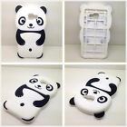Love Black Soft Gel Silicone Rubber 3D Cute Panda Case Cover For Various phones