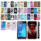 For Samsung Galaxy J1 J100 PATTERN HARD Back Case Phone Cover + Pen