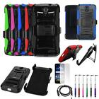 Phone Case For ZTE Grand X 3 4G LTE Holster Rugged Cover USB Charger Film Stylus