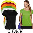 3-PACK-Active By Stedman Women Cotton Touch T-Shirt