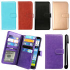 For ZTE Grand X Max+ Z987 X Max Z787 Magnetic Card Holder Wallet Cover Case +Pen