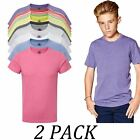 2-PACK-Russell tshirts Tops-Kids-Boys Heavy Duty T-Shirt-Crew Neck Short Sleeve