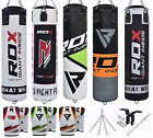 RDX Heavy Boxing Set Gloves Punch Filled Punch Bag MMA Ceiling Hook Chains BW