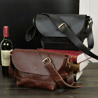 Men's Women Briefcase Business leather Handbag Pouch shoulder bag messenger bags