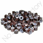 100pc 4mm 4.5mm 5mm Silicone Lined Micro Rings/Beads for i-Tip Hair Extensions
