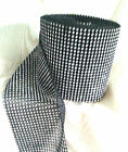 1 metre of silver/black diamante effect ribbon band 1-24 rows wide (5mm -120mm)