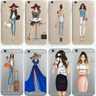 Ultra Thin Soft Silicone Fashion Girl Transparent Case Cover For iPhone 6 7 Plus