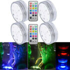 4xSubmersible 10 LED Waterproof Light RGB For Vase Wedding Party Fish Decors