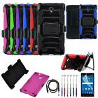 Phone Case ZTE ZMAX 2 GoPhone Holster Rugged Cover Stand USB Charger Film Stylus