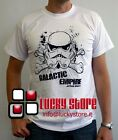 Star Wars T-SHIRT Galactic Empire Storm Trooper Bianco White Manica Corta