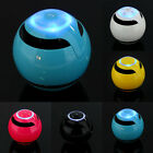 LED Ball Super Bass Stereo Bluetooth 3.0 Speaker TF USB AUX Handsfree For Phone