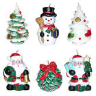 Christmas Decorative Sculpted Candles Santa Claus SnowMan Xma Trees Poinsettia