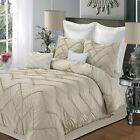 Isabella Champagne 5 Piece Comforter Bed In A Bag Set
